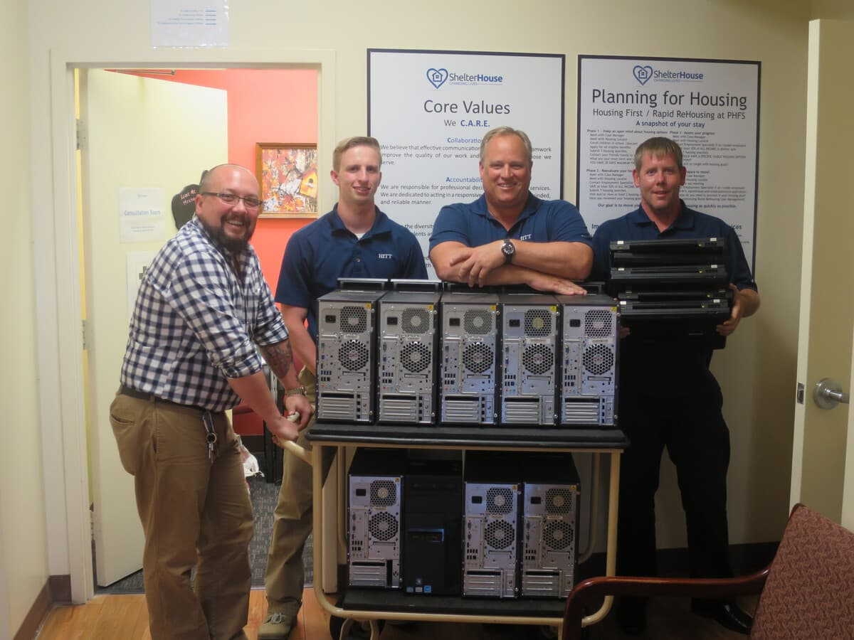 HITT IT Team donates computers to Shelter House