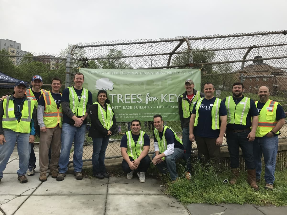 HITT Multifamily Tree Planting
