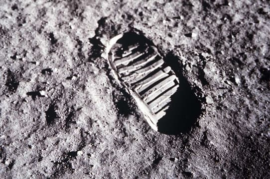 Neil Armstrong footprint on moon