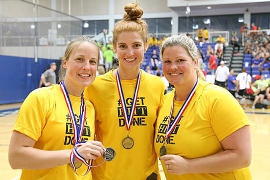 Women's Basketball champs at the 2014 JDRF Real Estate Games