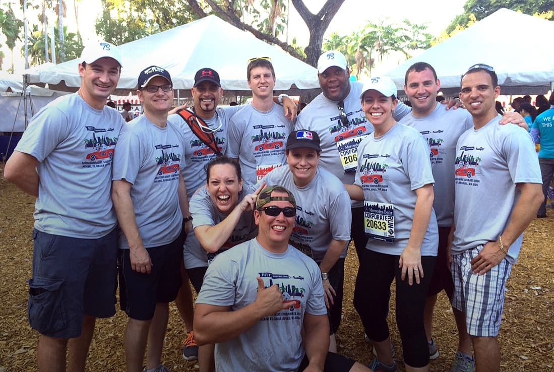 HITT South Florida having fun at the 2014 Mercedes-Benz Corporate Run